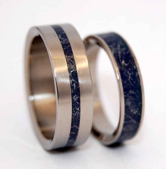 wedding rings, titanium rings, wood rings, mens rings, Titanium Wedding Bands, Eco-Friendly Wedding Rings - A LITTLE of you in ME