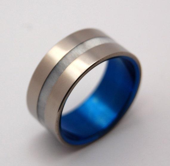 wedding rings, titanium rings, wood rings, mens rings, Titanium Wedding Bands, Eco-Friendly Rings, Wedding Rings - WIDE IRIS
