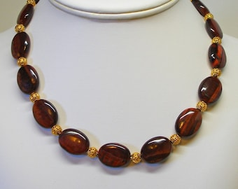 Red Tigereye Necklace