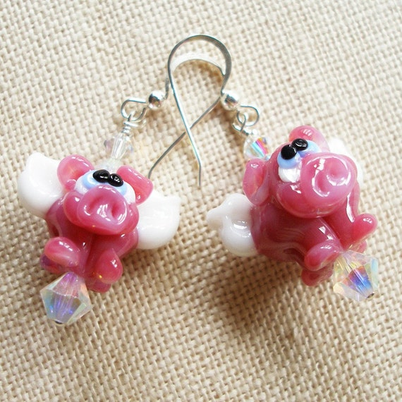 Pigs Fly Earrings,  When Pigs Fly...
