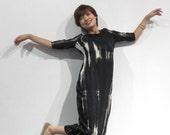 The black tie-dye long dress