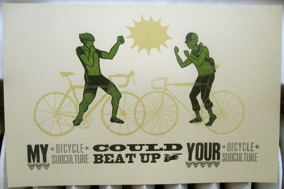 Bicycle Subculture letterpress poster