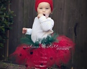 Strawberry Tutu  Costume (tutu, hat and legs)