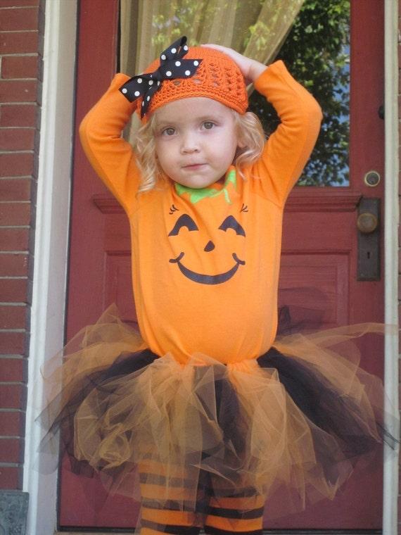 Custom Listing....Pumpkin and Ghost Tutu Costume...with Shirts, Tutu, Legwarmers & Clips