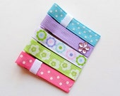 TOUCH OF PASTEL - Set of 5 Boutique Style Hair Clips
