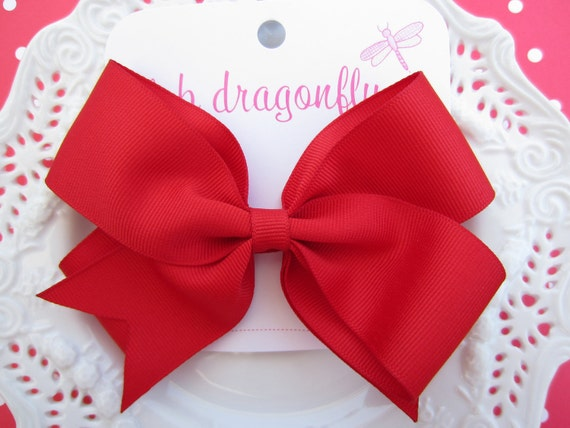 Grosgrain Red Bow