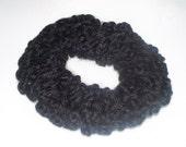 Crochet Basic Black Hair Scrunchie