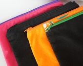 YOU PICK 2 PRINTS-Sandwich Bag - Black, Hawaiian Orange