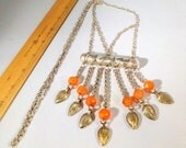 Antique Silver Wedding Prayer Box Necklace Carnelian Beads Moroccan Middle Eastern