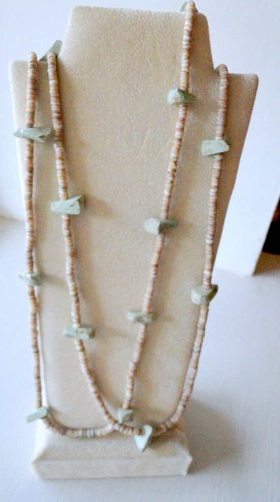 SALE Native American Primitive Fetish Two Strand Necklace Early 1900 Fred Harvey Indian Building NM