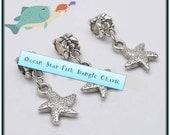 Starfish Dangle Charm - Fits European Style Bracelets