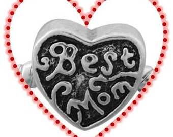 Best MOM Charm -  Fits European Style Beads
