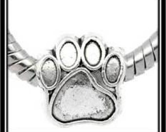 Dog Paw Charm - European Style Bead