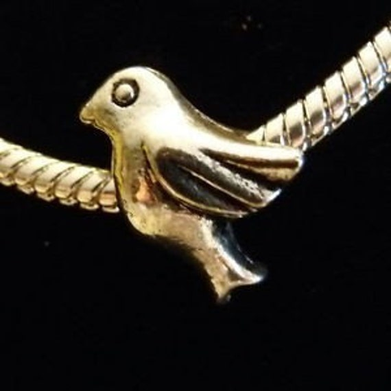 Silver Dove Charm - Bead