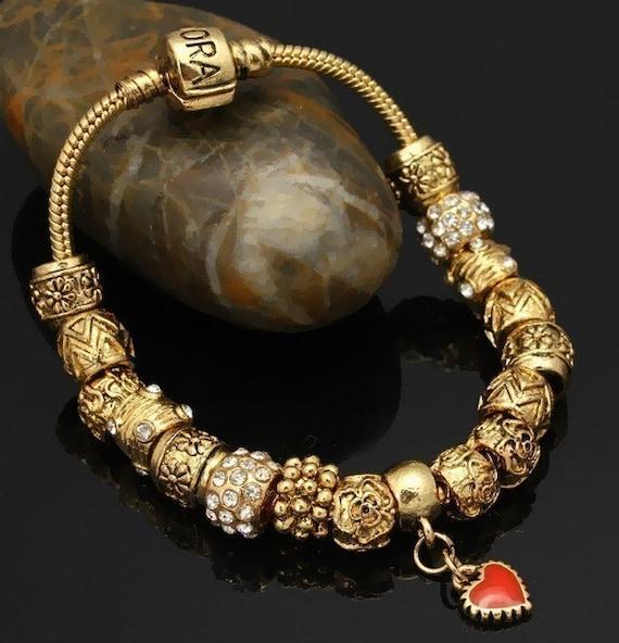 Beautiful Gold Pandora Style Bracelet