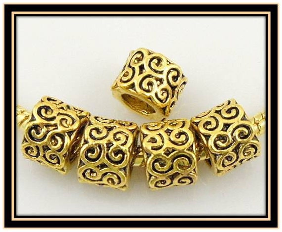 Special Listing for Ashley - Lacy Design Goldtone Bead & Antique Silver Beads