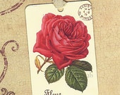 Gift Tags Vintage French Rose Paris Fleur