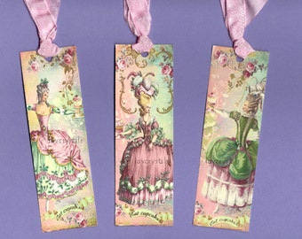 Bookmarks, Shabby French Style, Marie, Eat Cake, Marie Bookmark, Marie Antoinette
