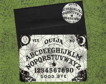 Halloween Note Cards Ouija board with Sticker Seals