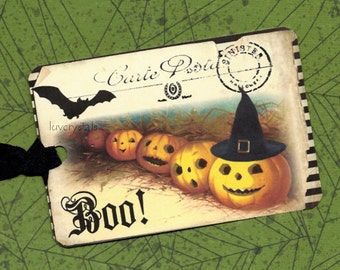 Halloween, Tags, Pumpkins, Boo, Halloween Tags, Trick or Treat
