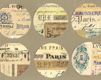 Stickers, Flea Market Style, French Letters, Vintage Stickers