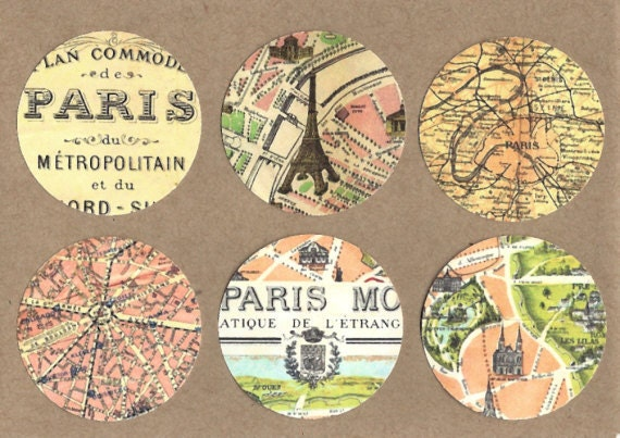 Items similar to stickers french map vintage style paris stickers on etsy - Vintage style images ...