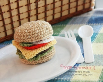 PDF Pattern - Cheeseburger with the Works