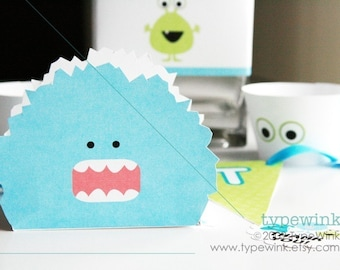 Silly Monsters Party Pack - Printable Download PDF Party - Photo invitation included