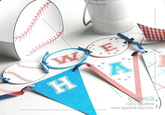 Printable Baseball Party Pack - Ticket Invitation and custom trading card
