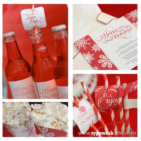 Happy Holidays Party - Printable - Editable