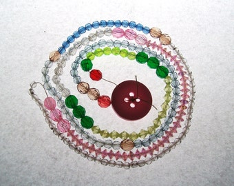 189 Beads - Multiple Colors and Shapes - Small Plastic Seed Mix