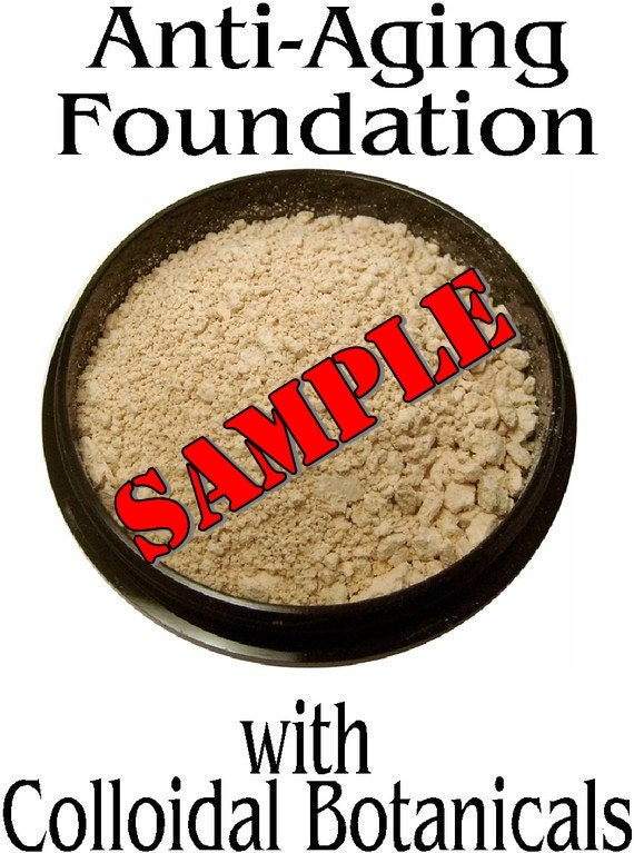 SAMPLE Anti-Aging Mineral Foundation with Pure Colloidal Botanicals-