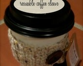 coffee cozy - oatmeal with brown button