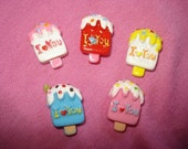 5 Ice Cream Sweets Deco Pieces