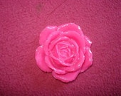 1 BIG  Rose Pink Rose Cabochon