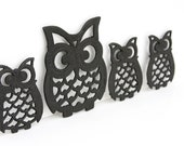 The Owl Family of Trivets