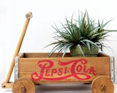 Adorably Rustic Vintage Pepsi Cola Crate Wagon