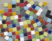 Mixed Bag...Ceramic Square Mini 3/8 tiles...Mosaic tiles...Sale