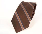 Vintage 1970s Brown Necktie - Galvani