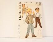 Vintage 1950s Butterick Boy's Pants and Sport Shirt size 8 Pattern 2122