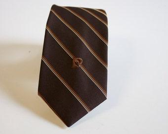 Vintage Skinny necktie 1970s Pierre Cardin Striped