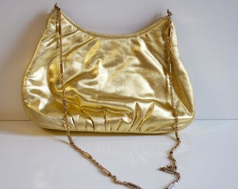 Vintage 1960s Gold Evening Purse by Harry Levine