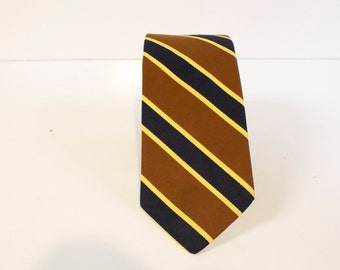 Vintage 1960s Jos A Bank Necktie - brown blue yellow