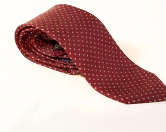 Vintage Burgundy silk necktie by Briar