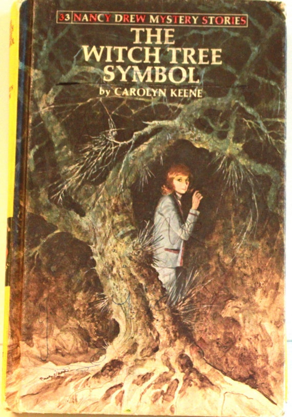 Vintage 1985 Nancy Drew Mystery Stories The Witch Tree Symbol Hardcover Book