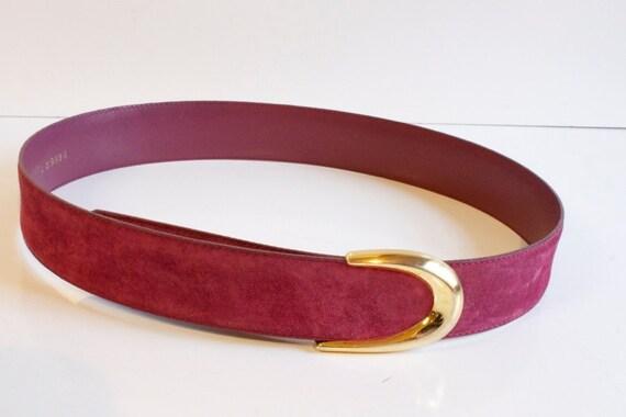 Vintage mauve Suede Womens Belt