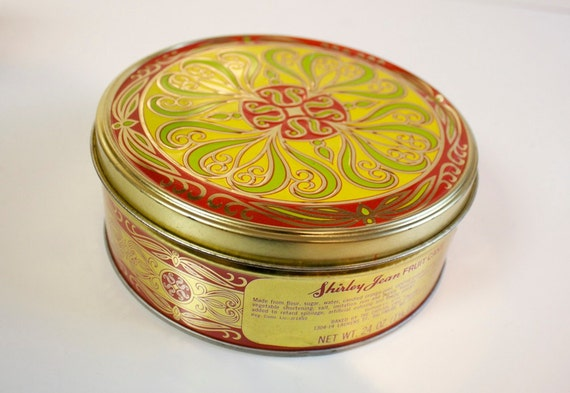 Vintage Shirley Jean Fruitcake tin box