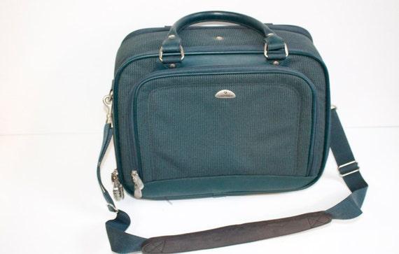 Vintage Green Samsonite Overnight Luggage
