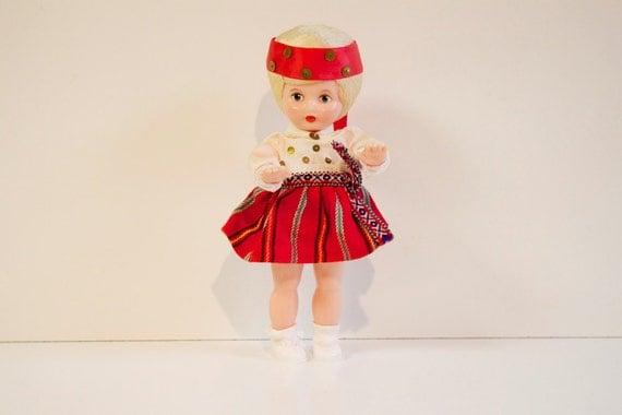 Vintage Russian Doll Folk