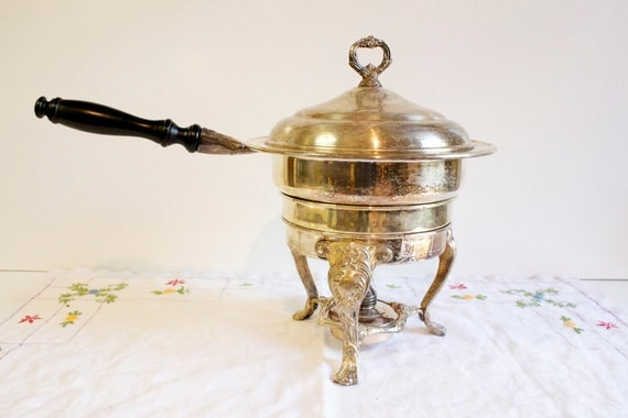 Vintage Silver Plated Chafing Pan by Sheridan